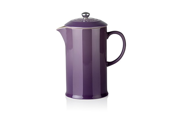 A sleek ceramic coffee pot in an Ultra Violet colourway