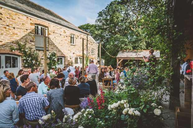 A feast at Nancarrow near Truro, Cornwall