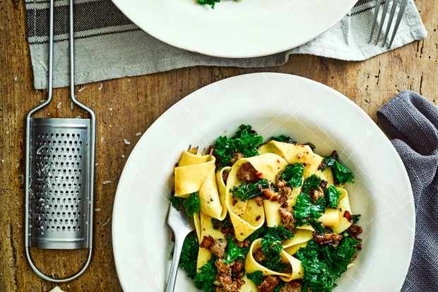 Sausage Pappardelle Recipe with Kale