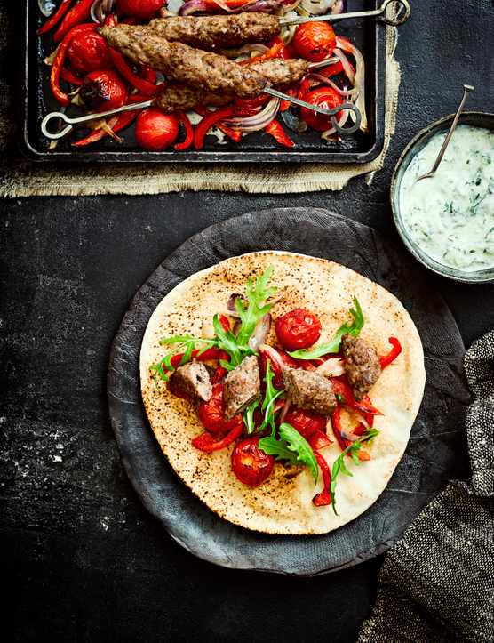 Lamb Kofta Recipe with Cucumber Raita