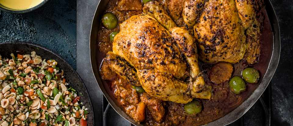 Poussin Recipe with Preserved Lemons and Tabbouleh