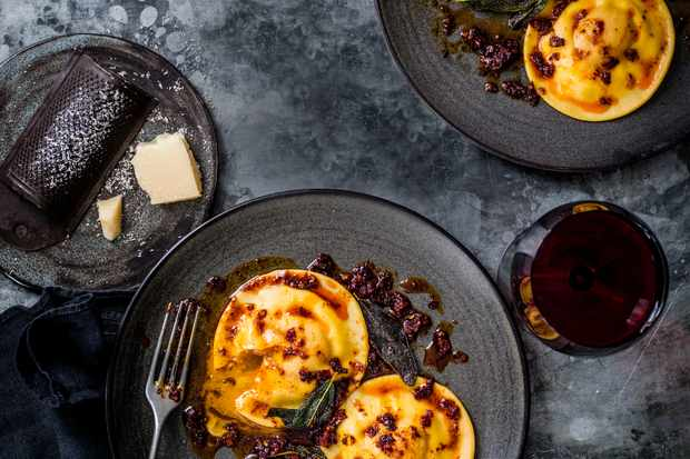 Egg Filled Ravioli Recipe with Sage