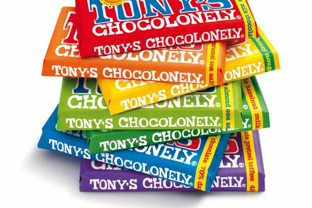 A selection of colourful chocolate bars