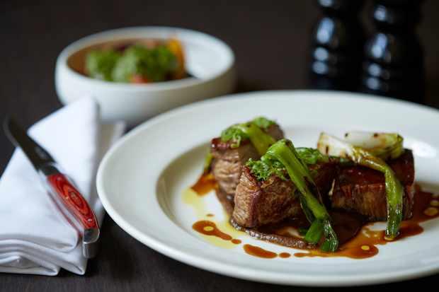 Lamb dish at The Rectory Hotel