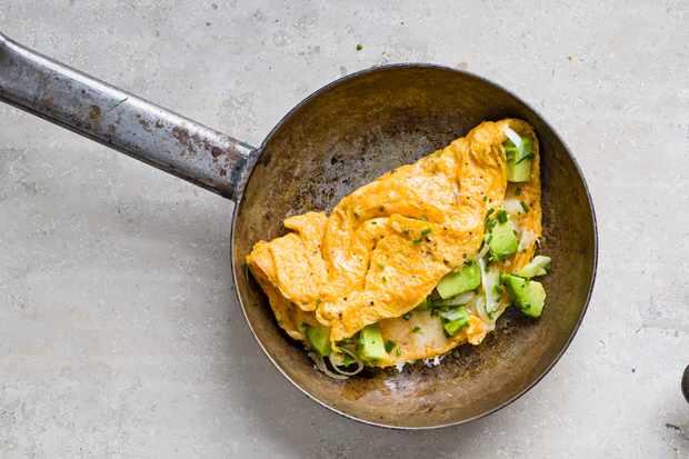 Gruyère, avocado, spring onion and chive recipe