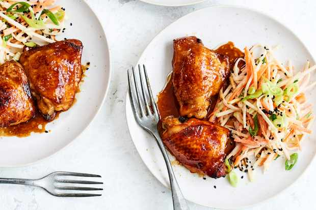 Soy Sauce Braised Chicken with Kohlrabi