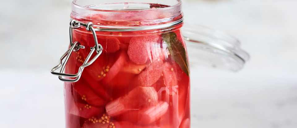 Pickled Rhubarb Recipe with Ginger