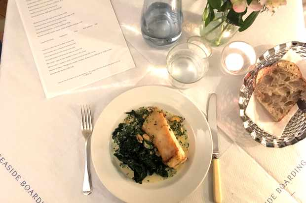 Seaside boarding house, turbot and cavolo nero