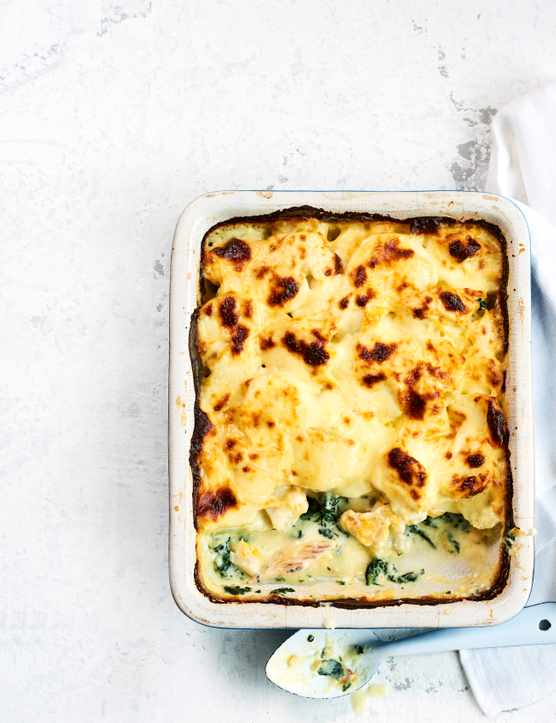 Baked Smoked Haddock and Cheese Gratin Recipe