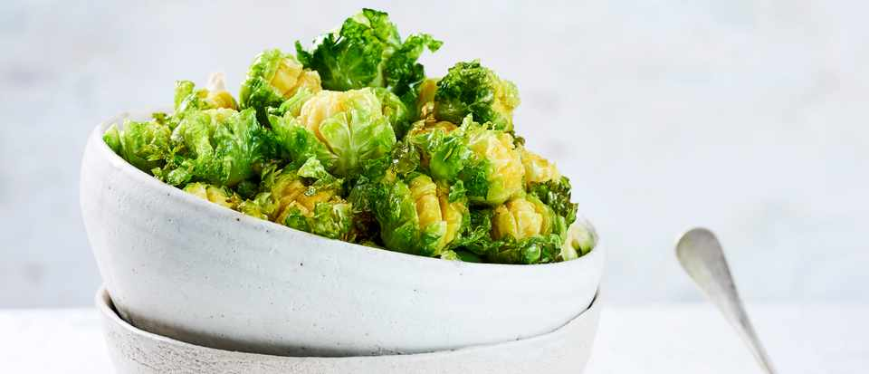 Deep Fried Brussels Sprouts Recipe with Tahini