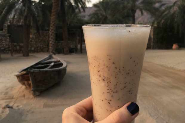 Fresh-from-the-palm dates, in smoothies on arrival