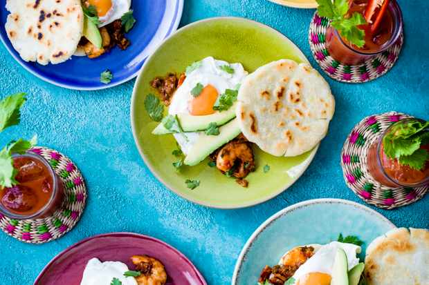 Arepas with Shrimp Creole Recipe