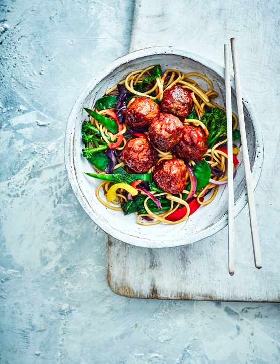 Korean Meatball Recipe with Noodles