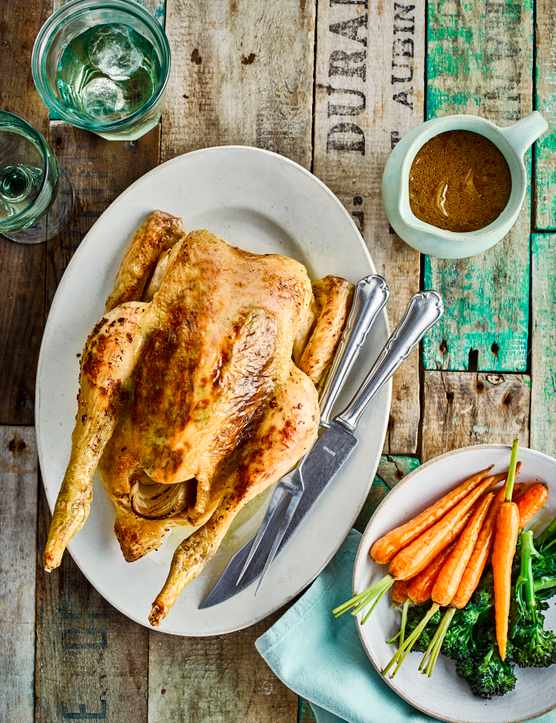 Roast Chicken Recipe with Rosemary Garlic Butter