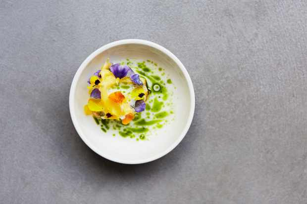 Beetroot sorbet with buttermilk, photograph by Lisa Linder