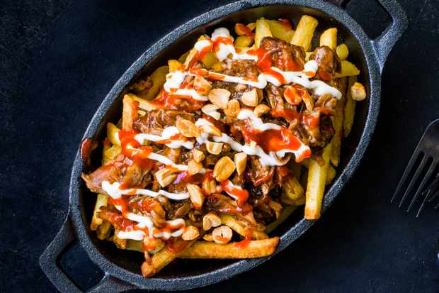 Asian pulled-pork fries