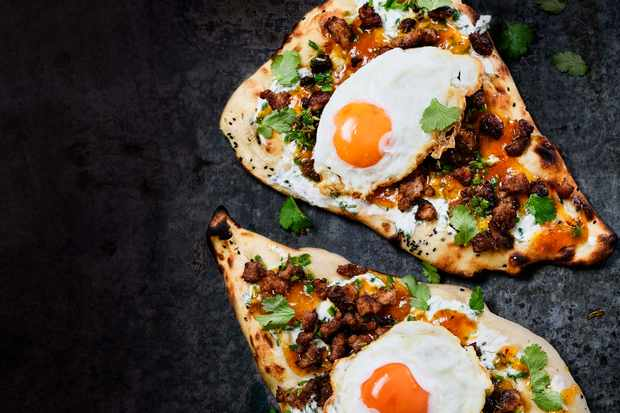 Sausage and Egg Naan
