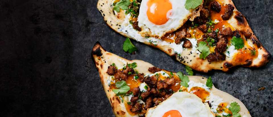 Sausage and Egg Naan