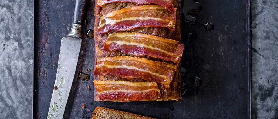 Banana Bread Recipe with Candied Bacon
