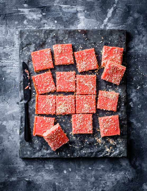 Coconut Slice Recipe with Pink Grapefruit