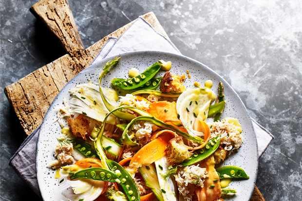 Crab and Asparagus Salad Recipe
