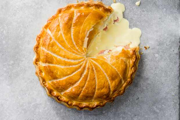 Puff Pastry Galette with Ham and Cheese