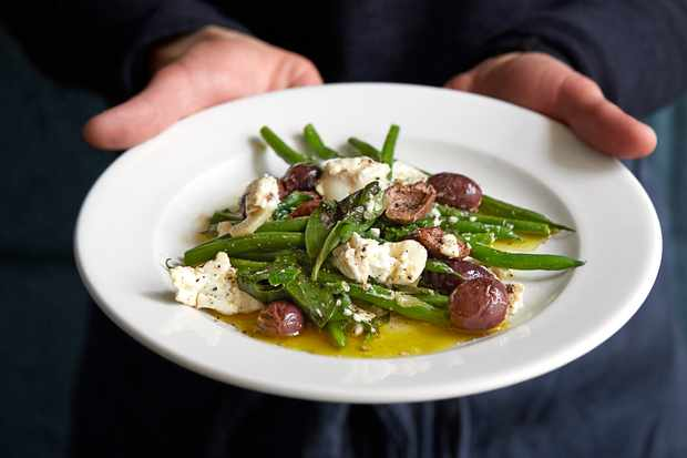 50 vegetarian entertaining recipes for vegetarian dinner party ideas green beans recipe with fried olives and goats cheese forumfinder Gallery