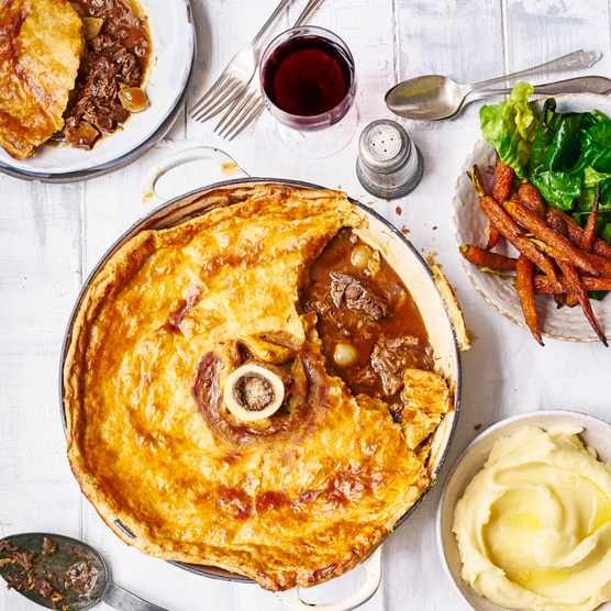 Beef and Ale Pie Recipe with Bone Marrow