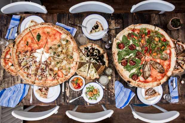 Pi Battersea pizza selection