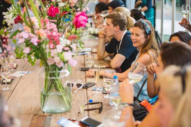 Taste of London summer festival dining table