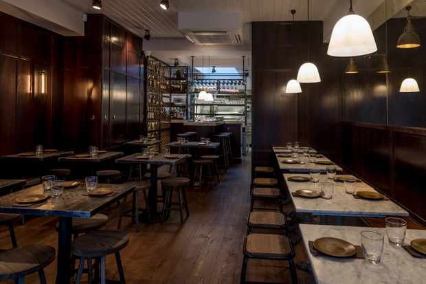 Dark Interiors at Via Emilia, Hoxton Square, London