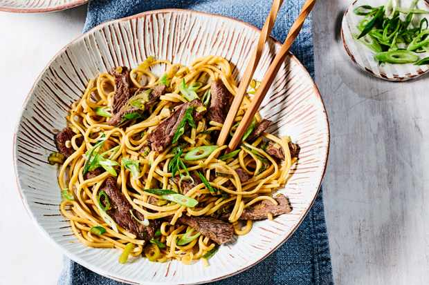 Beef Stir Fry with Noodles and Ginger Recipe