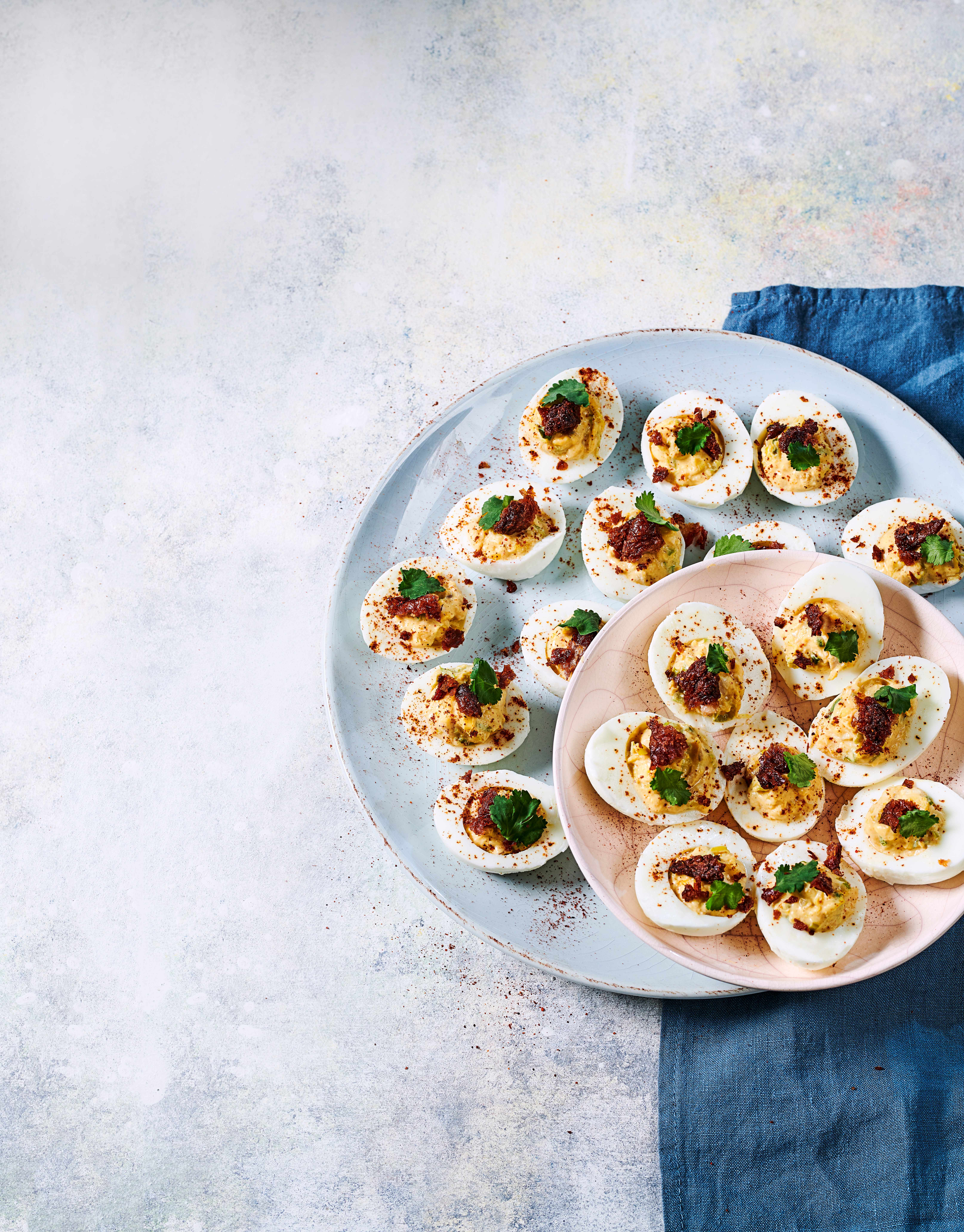Devilled Eggs Recipe with Coronation Chicken