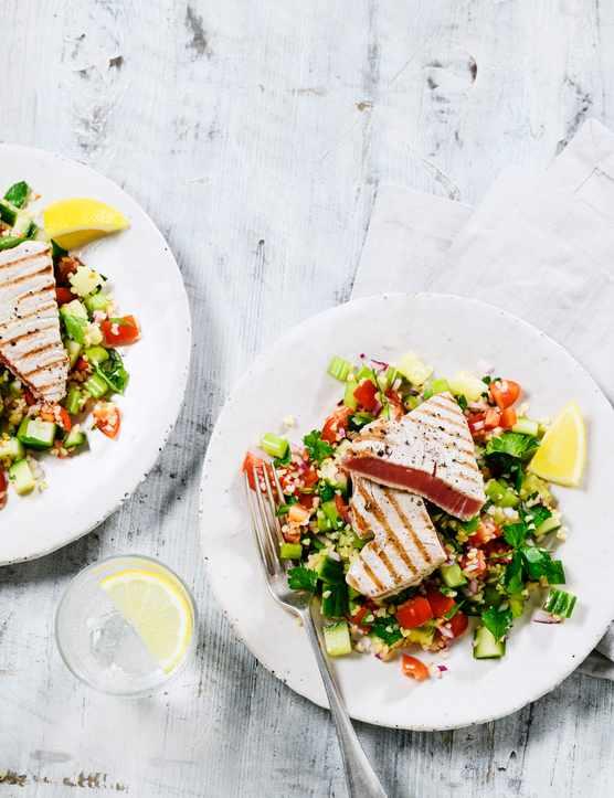 Tuna Steak Recipe with Bulgur Wheat