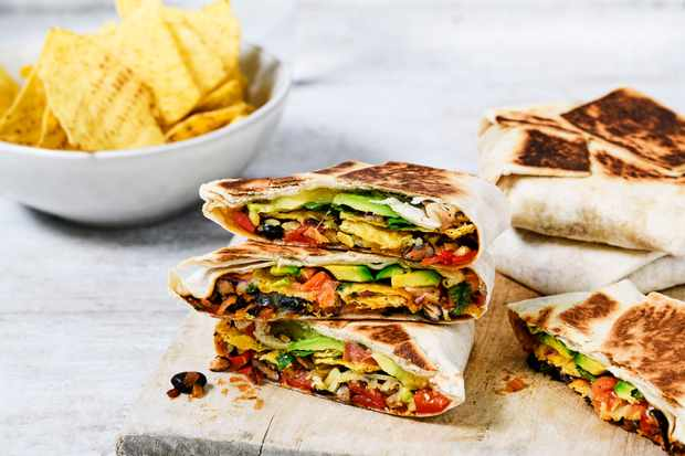 Crunch Wrap Recipe with Black Beans