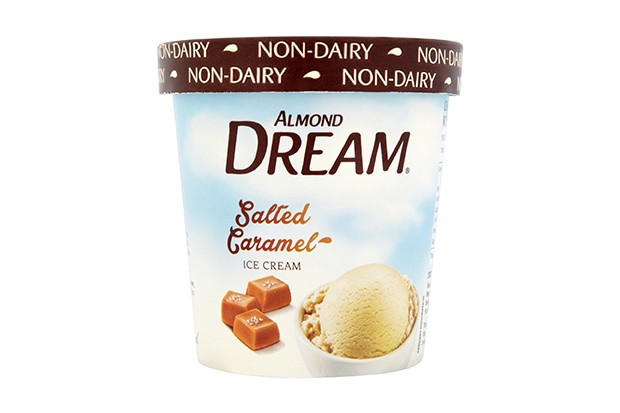 Almond dream dairy-free salted caramel ice cream