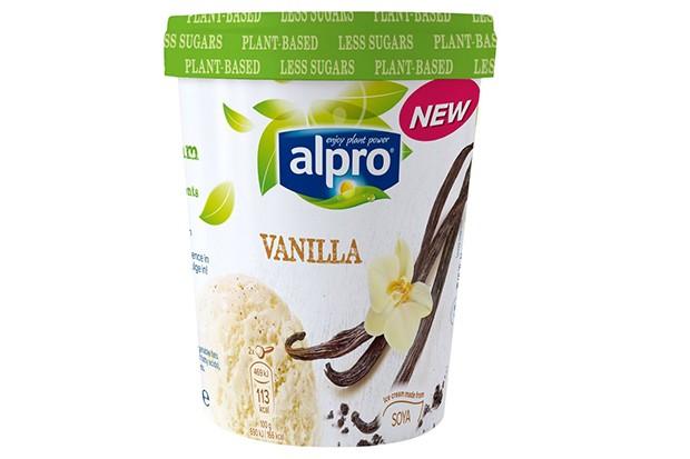 Alpro vanilla dairy free ice cream
