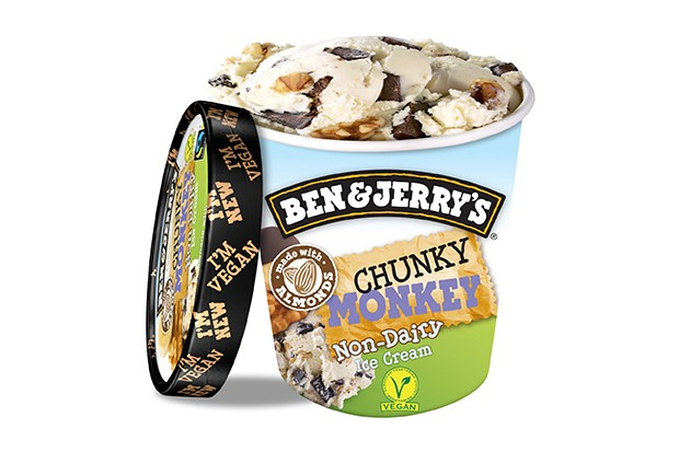 Ben and Jerry's dairy-free chunky monkey ice cream
