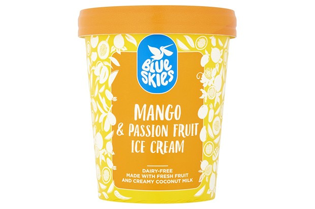 Blue Skies mango and passion fruit dairy-free ice cream