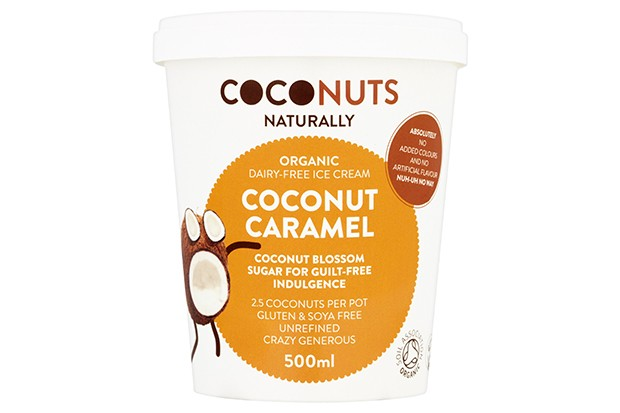 Coconuts dairy-free coconut caramel ice cream