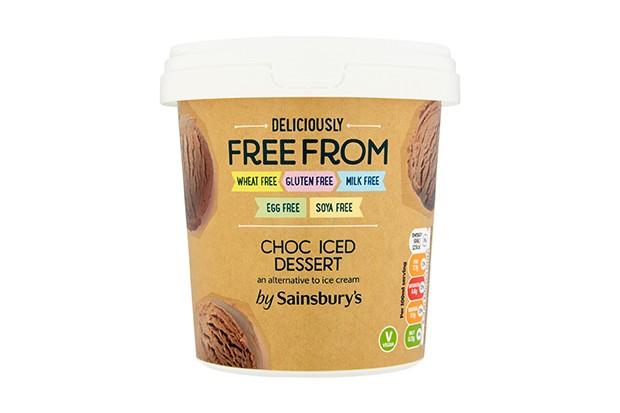 Dairy-free Sainsbury's choc iced dessert