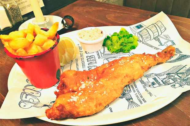 Essex Street Brewery, fish and chips