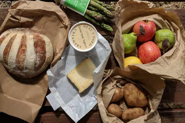 Farm shop produce from Watson and Pratt in Lampeter, Wales