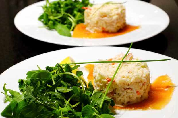 The Farmhouse's starter of Whitby crab