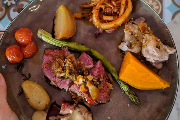 Gaucho BBQ dinner at Village Castigno
