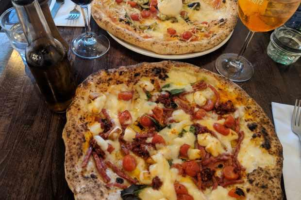 Farina pizza at Farina pizzeria, Notting Hill, London