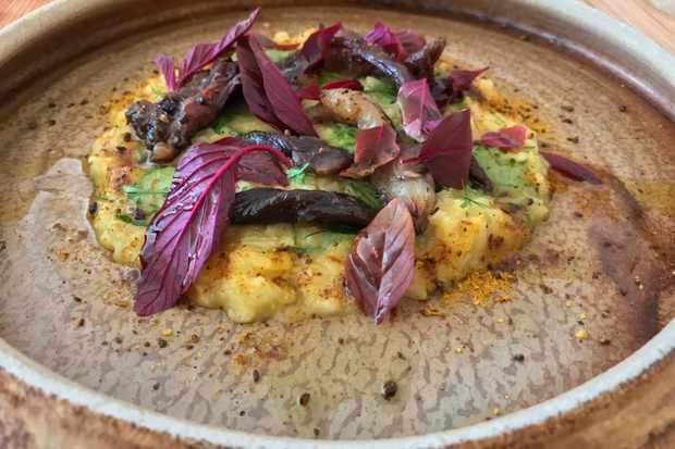 Lamb, arroz, uchucuta at Atlas Dining