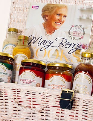 Win a signed cook book and Mary Berry's Foods hamper worth £50