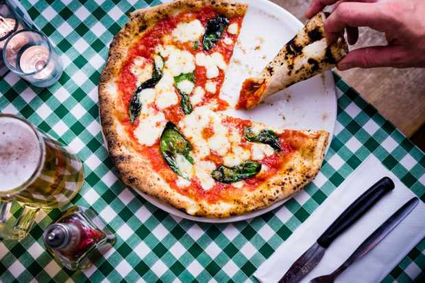 Pizza at Pizza Pilgrims, London