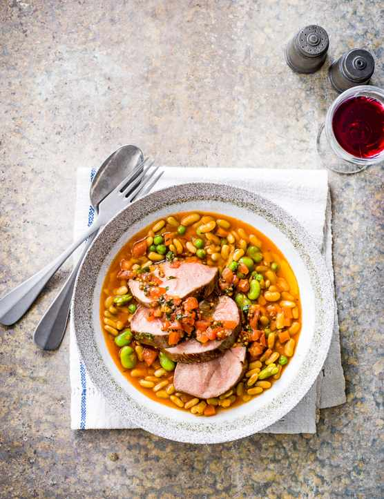 Lamb with Flageolet Beans Recipe